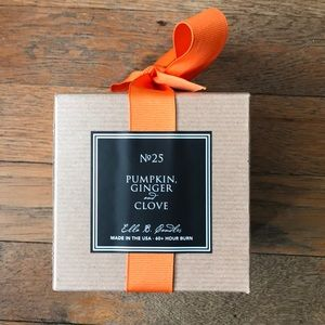 Pumpkin, Ginger, and Clove Ella B. Candle $25